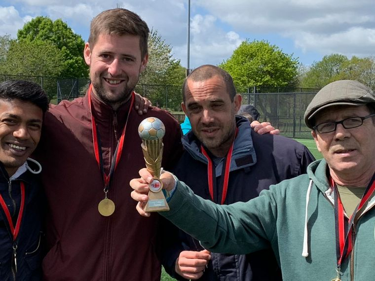 Bournemouth charity team wins AFC Bournemouth unity league.